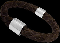 Leather and Sterling Silver Bracelets