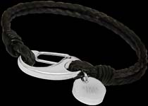 Stainless Steel and Leather Bracelets