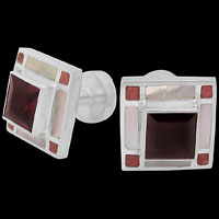 Men's Jewelry - Gemstone and Sterling Silver Cufflinks