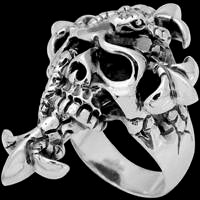 Gothic Skull Sterling Silver Rings